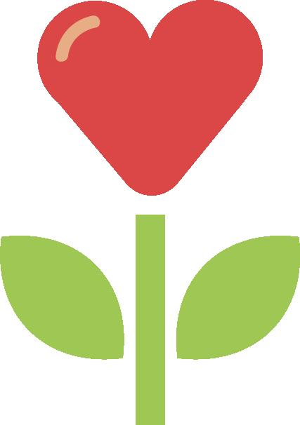 heart flower illustration