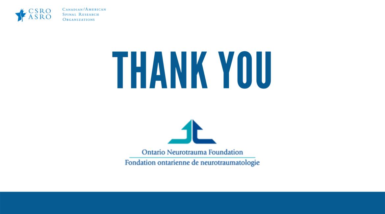 Ontario Neurotrauma Foundation closes